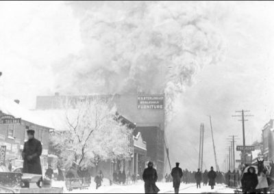 Fire at Sterling Block on Fort St. - 1909