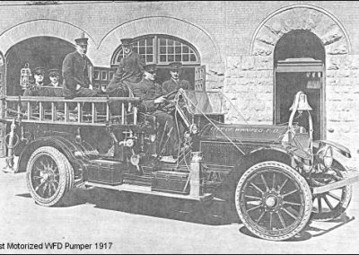 First Motorized WFD pumper