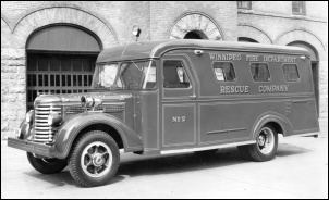 Rescue squad wagon - 1950