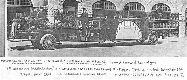 First Motorized Ladder - 1917