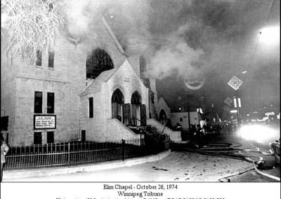 Elim Chapel fire - 1974