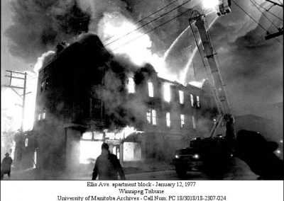 Ellis Ave. fire - 1977