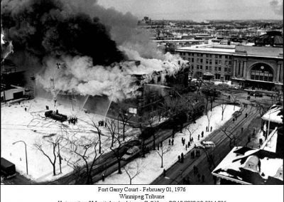 Fort Garry Court fire - 1976