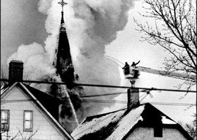 Immaculate Conception Church fire - 1978