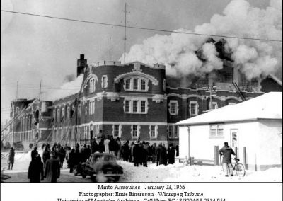 Minto Armouries fire - 1956