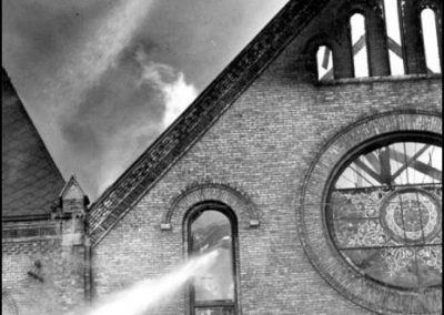 St. Andrews Church fire - 1968