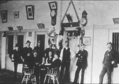 Volunteers at new Market Square fire station - 1878