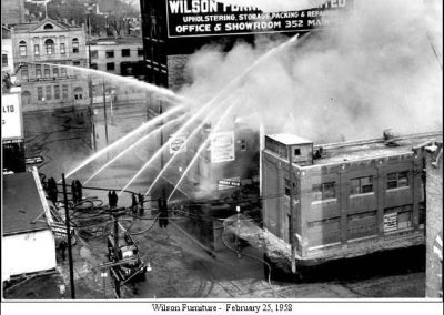 Wilson Furniture fire - 1958